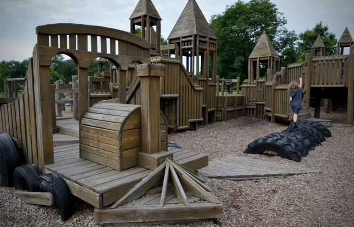 Outdoor Play Westerville  Volunteers in the community built the castle-like playground in 1990 and dedicated it